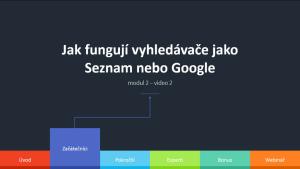 2.2 - Jak fungují vyhledávače jako Seznam nebo Google