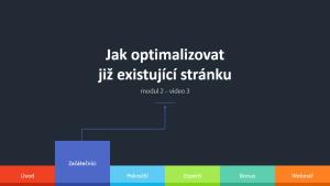 2.3 - Jak optimalizovat již existující stránku