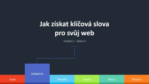 2.4 - Jak získat klíčová slova pro svůj web